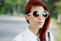 Designer Fashion Womens Oversize Super Round Sunglasses 8620