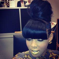 Bun - #blackwomen #black #women #hair #hairstyle #love ...