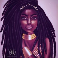 Chocolate City Comics black girl magic art by Esther. Sexy Black Art, Black Love Art, Black Girl Art, Black Is Beautiful, Black Girl Magic, Black Girls, Art Girl, Natural Hair Art, Pelo Natural