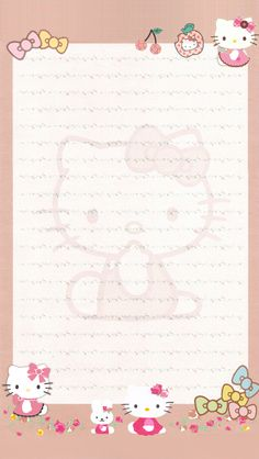 HK Hello Kitty My Melody, Sanrio Hello Kitty, Free Printable Stationery, Kitty Images, Kawaii Stationery, Hello Kitty Wallpaper, Letter Set, Little Twin Stars, Writing Paper