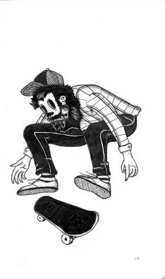 Gotta veer away from art I really like and start looking at art that matters for my project. Starting with skate culture works and the likes, very nice lines and such.