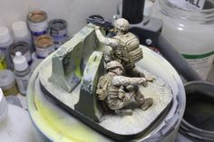 The finished HobbyFan 1/35 scale Marines in Afghanistan vignette. Loved this mini project!