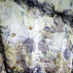Ecoprint Silk Shawl by Julie Pishny