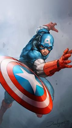 Marvel Wallpapers  C2 B7 Papers Co Au72 Hero Captain America Jeehyunglee Il Ration