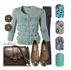 Super cute outfit combo!