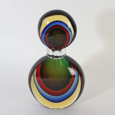 X HUGE multisommerso caraffe Vertreria Oball Murano glass collectable Glass Collection, Perfume Bottles, Ebay, Perfume Bottle