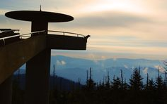 Clingmans Dome observation deck in the Great Smoky Mountains National Park