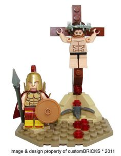 Jesus Lego Kit: It makes sense, since stepping on a Lego is the most painful feckin' thing you can do besides crucifixion. Jesus Son Of God, Lego Kits, Step On A Lego, Atheist Humor, Crucifixion Of Jesus, Roman Soldiers, Lego Worlds, Easter Parade, Bible Crafts
