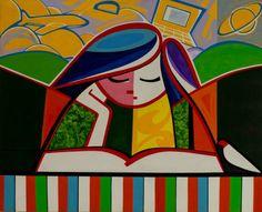 Leitura, 2011 Arimateia Sousa (Brasil, contemporâneo) Acrílica sobre tela, 80 x 100 cm