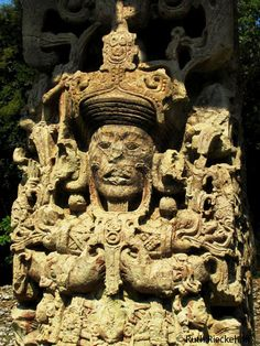Stela Details, Copan, Honduras