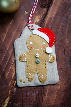 Christmas Gingerbread Man Tag