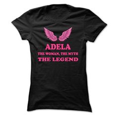 ADELA, the woman, the myth, the legend T Shirts, Hoodies. Check price ==► https://www.sunfrog.com/Names/ADELA-the-woman-the-myth-the-legend-mhgnwsrdsp-Ladies.html?41382 $19