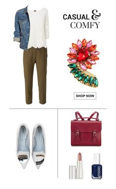 Casual Fall outfit wearing a floral brooch.