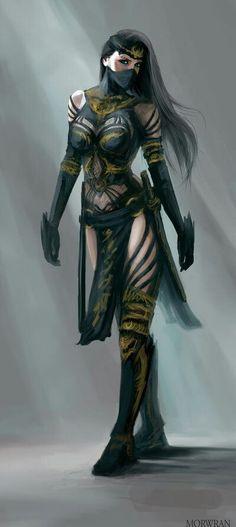 ideas for fantasy art female assassin anime Fantasy Girl, Foto Fantasy, Fantasy Warrior, Fantasy Women, Dark Fantasy, Dnd Characters, Fantasy Characters, Female Characters, Female Character Design