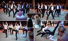 Groomsmen surprise bride with a brilliant synchronised dance