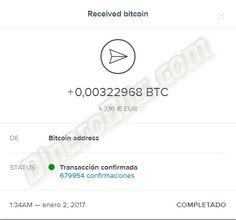Segundo pago recibido de esta estupenda faucet para conseguir bitcoins gratis.  Más información: http://dinerobits.com/freebitcoin/