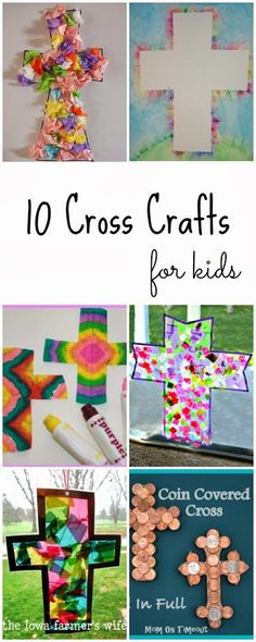 10 beautiful cross crafts for kids.  A beautiful way to include your children in creating pieces of memorial.