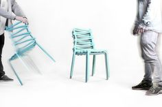Loop Chair by swedish Markus Johansson Design studio.Teal.