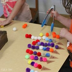 Fine motor and early math skills with simple summer math in preschool