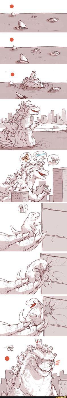 Godzilla and her babies