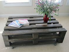 Pallet Wood Coffee Table Reclaimed by ReclaimCreationsShop on Etsy, $260.00