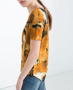 Imagem 4 de T-SHIRT ESTAMPADO FLORAL da Zara