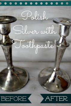 How to polish your silver with toothpaste from The Creek Line House.