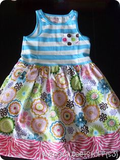 knit tank dress tutorial for little girls -- with measurements!