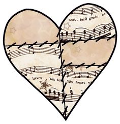 ArtbyJean - Vintage Sheet Music: ---HEARTS