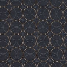 Plait Blue Moon Overlapping Circles Blue Upholstery Fabric