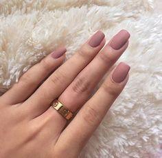 Matte pink nails