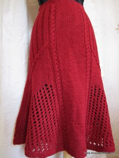 knitted skirts | Knitted Skirts ~ Little Girls & Ladies! | A Girl Thing Hand Knitted ...