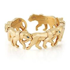 Gold Panther Bangle Bracelet, Cartier