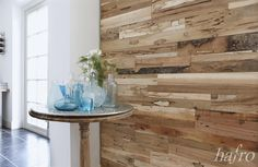 Teak Wall Design TEXEL Panneau Mural 3d, Entryway Tables, Dining Table, Vase, Wood, Furniture, Inspiration, Home Decor, 9 Mm