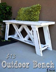 Best Country Decor Ideas for Your Porch - DIY Double X Outdoor Bench - Rustic Farmhouse Decor Tutorials and Easy Vintage Shabby Chic Home Decor for Kitchen Living Room and Bathroom - Creative Country Crafts Furniture Patio Decor and Rustic Wall Art and Accessories to Make and Sell #GreatDiyCountryDecor #shabbychicfurniturelivingroom #countryshabbychicdecor #artsandcrafts