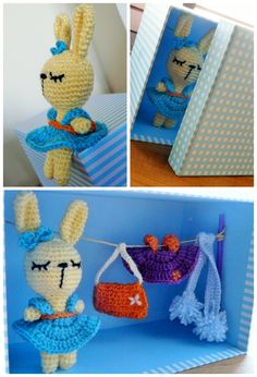 This Pretty Bunny is a it-girl Conejita Coqueta Crochet Amigurumi