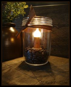 Village Candle Kitchen jar. Love the idea..but finding the time to actually make it? I'll let ya know when i do ;)