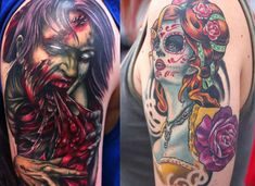 Scary Halloween Tattoo Designs, Images & Galleries 2012 For Girls & Women