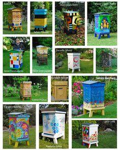 Honey Bee Garden, Honey Bee Hives, Honey Bees, Backyard Beekeeping, Chickens Backyard, Bee Hives Boxes, Bee Rocks, Bee Hive Plans, Bee Images