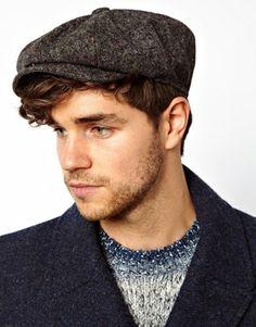 ASOS Baker Boy Hat In Grey Tweed at asos.com 53fe5f8681c2