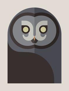 Owls of the World by Alessio Sabbadini, via Behance