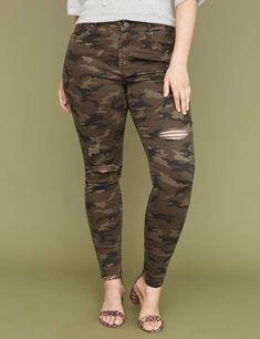 1e5b1325481 Lane Bryant Super Stretch Skinny Jean - Destructed Camo. Curvy FashionPlus  Size FashionWomens ...