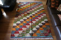 Reversible Moroccan Taznakht Berber Picasso Wool Rug eBay starting bid £50...don't miss out!