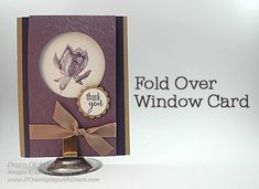 Lotus Blossom Fold-Over Window Card Video