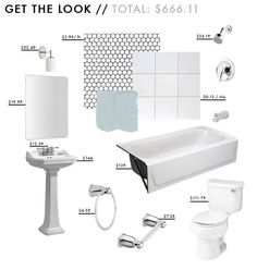 penny tile floor white subway walls wall sconce mirror pedestal sink sink faucet penny tile ceramic wall tile paint tub and shower faucet kit bathtub towel ring toilet