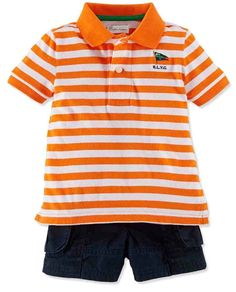 9656db61a15b NWT Ralph Lauren Baby Boys 2 Piece Striped Polo   Cargo Shorts Set   RalphLauren  DressyEveryday