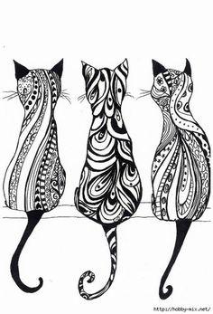 трафареты котов - Поиск в Google