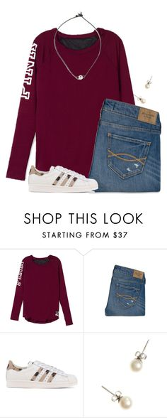 """""""ONLY 4 DAYS UNTIL CHRISTMAS!!"""" by flroasburn ❤ liked on Polyvore featuring Abercrombie & Fitch, adidas Originals and J.Crew"""