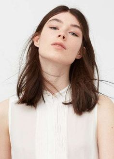 Mango Outlet Pleated panel blouse