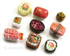 Sushi Bento Box Lampwork Beads 10 by Jopanda SRA by Jopanda, $99.00
